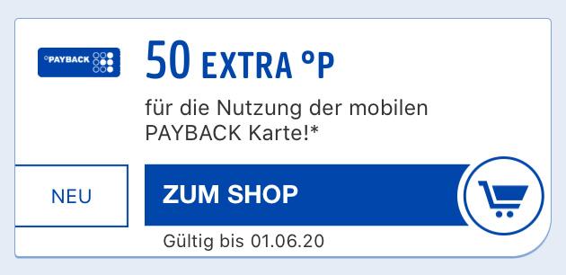 50 Payback Punkte kostenlos sammeln