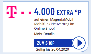 Aktuelle Telekom Payback Aktion