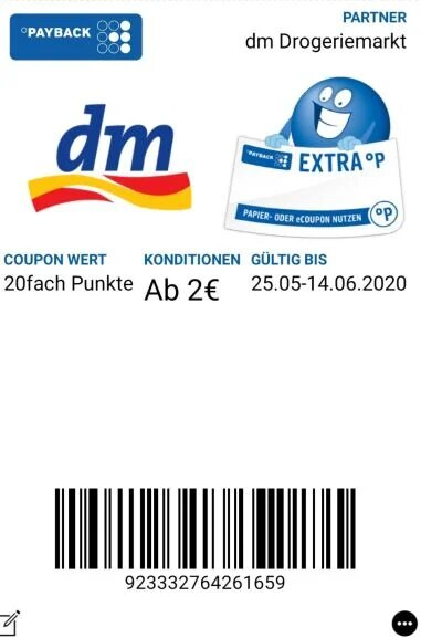 DM Payback Coupon 25.05
