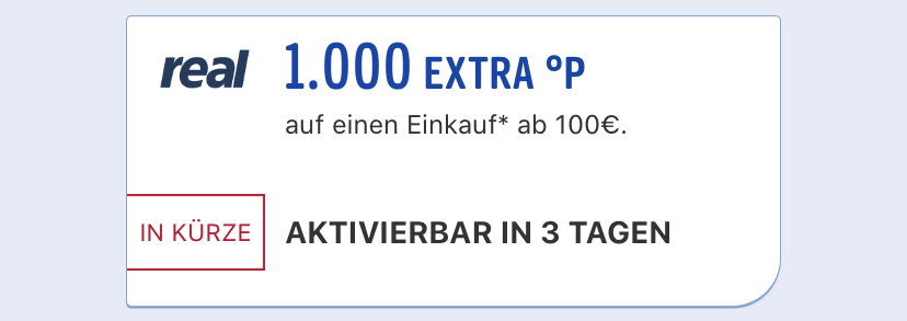 Payback Punkte bei Real Coupon
